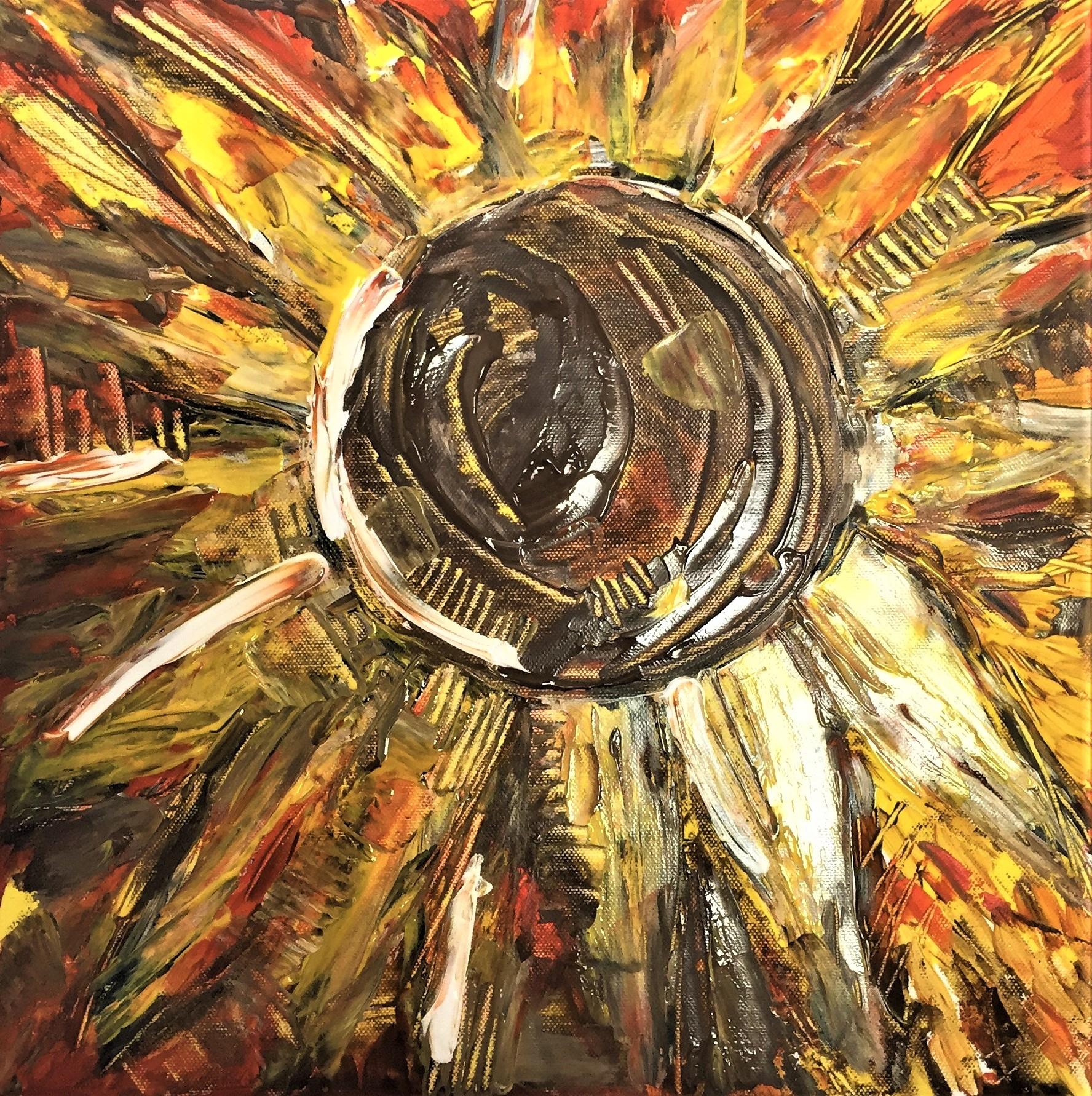 Dla kreatywnych - malowanie słonecznika